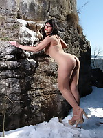 Pantyhose Diva having some fun in the nature