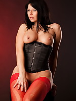 Red pantyhose and a sexy black corset are a fantastic combination on this killed milf. She has some great boobs that go perfectly with the corset and you can check out the whole scene for how it went