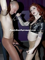 Mistress Eden strapon and CBT